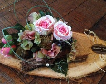 Rustic floral arrangement, pink floral arrangement, mothers day gift, country style arrangement