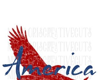 Eagle Americaa Flag Distressed  SVG DFX Cut file  Cricut explore file 4th of July t shirt decal