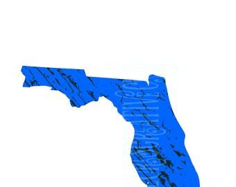 Florida Distressed SVG Cut file  Cricut explore file t-shirt decalscrapbook vinyl decal wood sign cricut cameo Commercial use