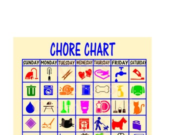 Chore chart  SVG Cut file  Cricut explore filescrapbook vinyl decal wood sign cricut cameo Commercial use