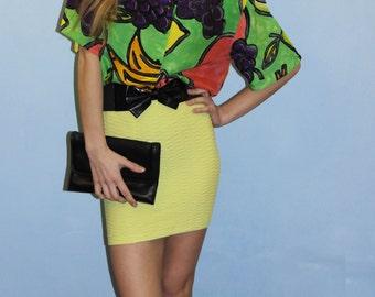 Sale 50 %/Funky vintage fruit blouse