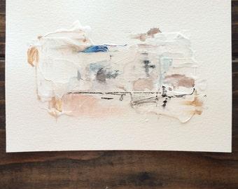 Original 5x7 mixed media abstract painting