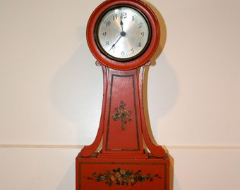 "Seth Thomas ""Danvers"" Banjo Clock//Folk Art Clock//Seth Thomas Clock//Vintage Clock"