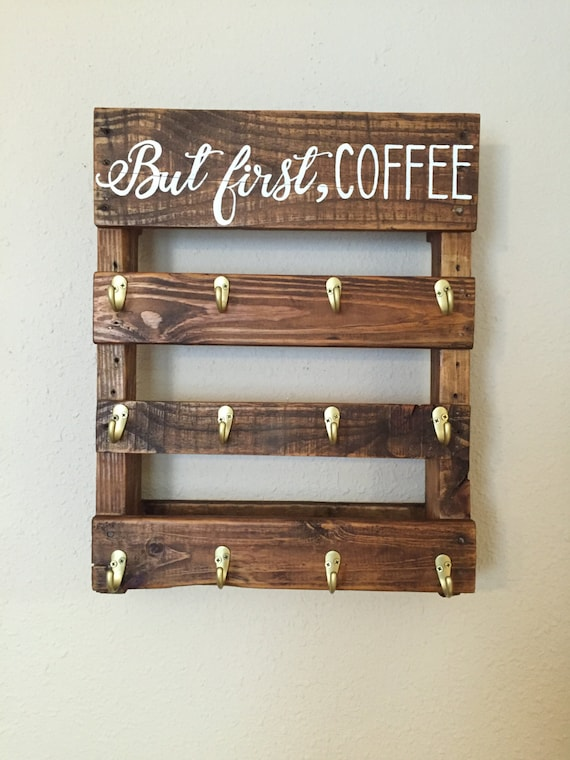under cabinet coffee mug rack items similar to coffee mug rack quot but coffee quot on etsy 27464
