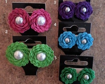 Rick Rack Rose Earrings