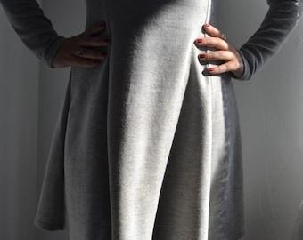 Casual Knit Jersey dress In Heather Grey Size Medium// Casual Athleisure dress// Sweater dress in Medium