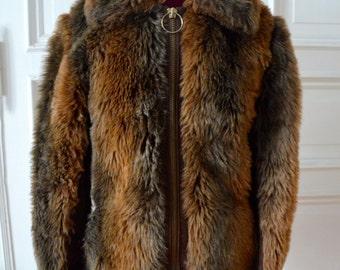 Vintage Late 1960s London Fake Fur Jacket