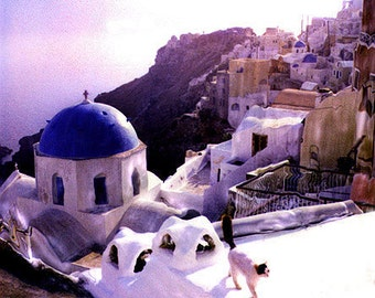 Greece, Greece art, Oia Greece art, Santorini Greece art