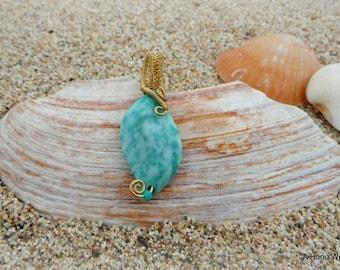 Weaved Jasper Pendant