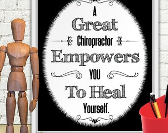 A Great Chiropractor Empowers You To Heal Yourself, Gift For Chiropractor, Chiropractor Gifts, Chiropractic Art, Chiropractic Gifts, Chiro