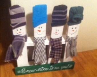Snowman porch greeters
