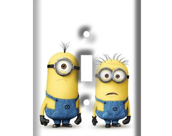 Minions Light Switch Plate Cover - Decorative Light Switch Cover