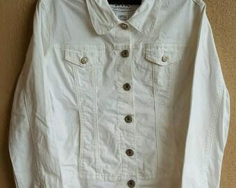 Levi's Strauss & Co Signature White Denim Jean Jacket Size XL