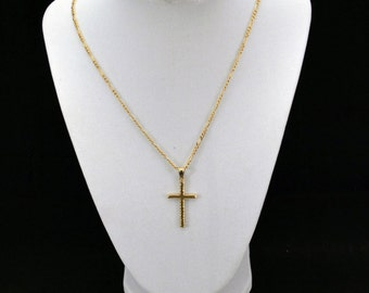14kt. Yellow Gold Cross Necklace w/ Chain   J84