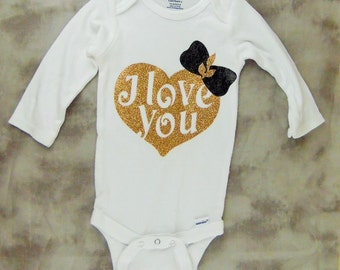 I Love You Baby Onesie