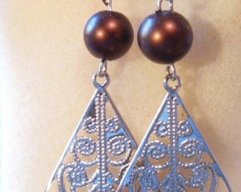 Bead and dangle and handcrafted earrings