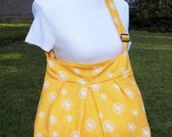 Cross Body Bag made with Yellow Dandelion Premier Fabric