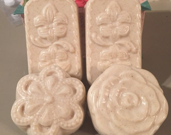 Homemade Oatmeal Bar Soap with a Lilac Spring scent