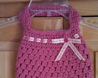 Hand crocheted little girl's purse