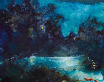 Chasing Fireflies - Giclee Print