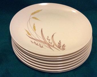 42 Pc Boontonware Somerset Melmac Melamine Dinnerware Golden Harvest Wheat 1960's Mid Century Modern