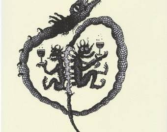 Serpent (2016), original signed print (A4)