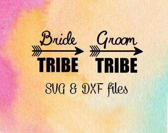Bride Tribe SVG, Groom Tribe Cut File, Bachelorette Party SVG Iron On, Arrow svg, File for silhouette, Cricut Explore files, Engagement SVG