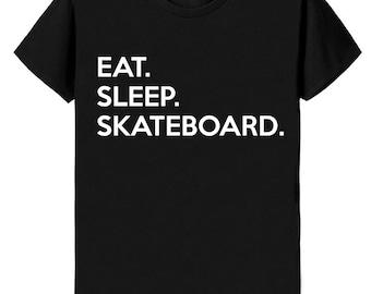 Skateboard T-shirt Mens Womens Gifts For Skateboarding Eat Sleep Skateboard shirts - 655