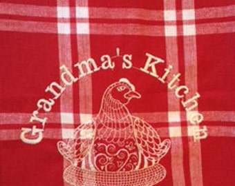 Grandma's Kitchen Towel (Accent towels available)
