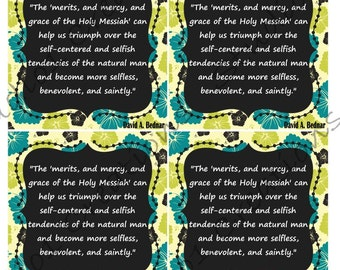 David A Bednar Merits and Mercy Quote Bookmark
