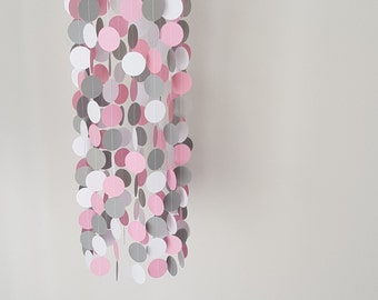 Baby Mobiles, Baby Mobile, Pink Mobile, Nursery Decor, Girls Room, Baby Girl, pink and Grey, wall Hanging, Party Decor, Baby Shower