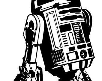 R2D2 Star Wars Vinyl Decal