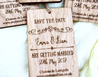 Save The Date - Rustic Wedding Announcement - Save The Date Magnet - Wooden Save The Date - Custom Wooden Magnet 05STD