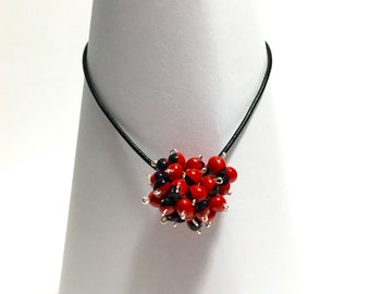 Huayruro Seeds Pompon Necklace