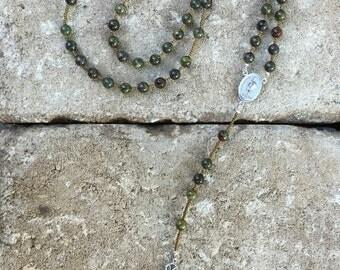 Dragon Blood jasper rosary