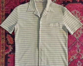 Vintage 60s 70s Mens Resort Cabana Shirt