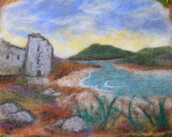 Lochside Ruin wet felting