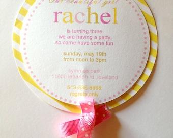 Lollipop Invitations (12), Sweet Shoppe Invitations, Candy Invitations, Lollipop Birthday, Sweet Shoppe Birthday
