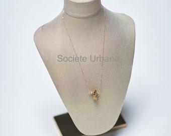 Raw Druzy Pendant- Simple Layering Necklace-Boho Luxe Jewelry- Healing Stones / Boho//Minimalist//Cool// Jewelry By Societe Urbane SU022