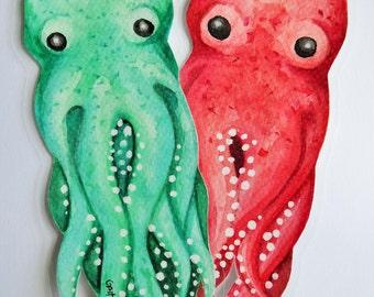 Octopus bookmarks [ORIGINAL ART]