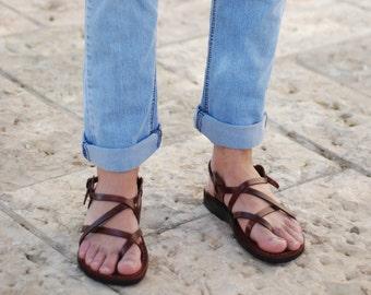 men leather sandals   mens leather sandals   brown sandals   handmade sandals   greek sandals   Jesus sandals   Jerusalem sandals, men shoes