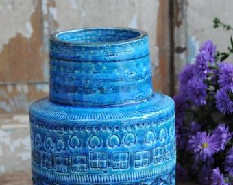 Bitossi Rimini blue glaze vase by Aldo Londi 1960s - Vase ceramic / vintage / Rimini blue / Aldo Londi / home accessory