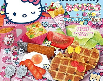"Sanrio Hello Kitty""Waffle Plate Set"" Paper Craft Origami Kit"