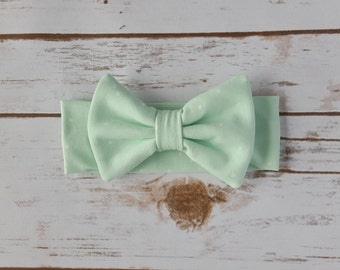 Mint Bow Headband