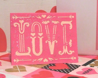 Love Card, Blank card, greeting card, Valentine's Day
