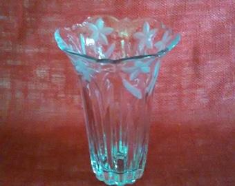 Crystal Vase Clear Glass Vase Frosted Glass Vase Etched Glass Large Flower Vase