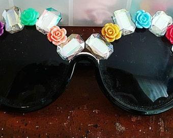 Crystal queen sunglasses