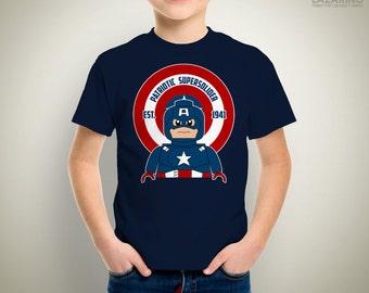 KIDS - Patriotic Supersolider Lego T-Shirt/Onesie