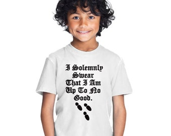 I Solemnly Swear I Am Up To No Good kid's t-shirt