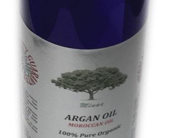 ARGAN OIL pure organic oil  8 oz hair skin nail diy MOROCCAN  mines